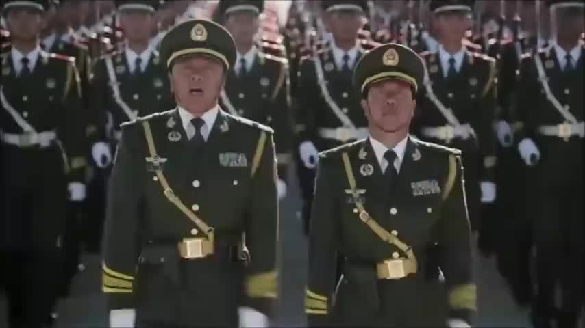 胜利日大阅兵:武警部队抗战英模部队向我们走来