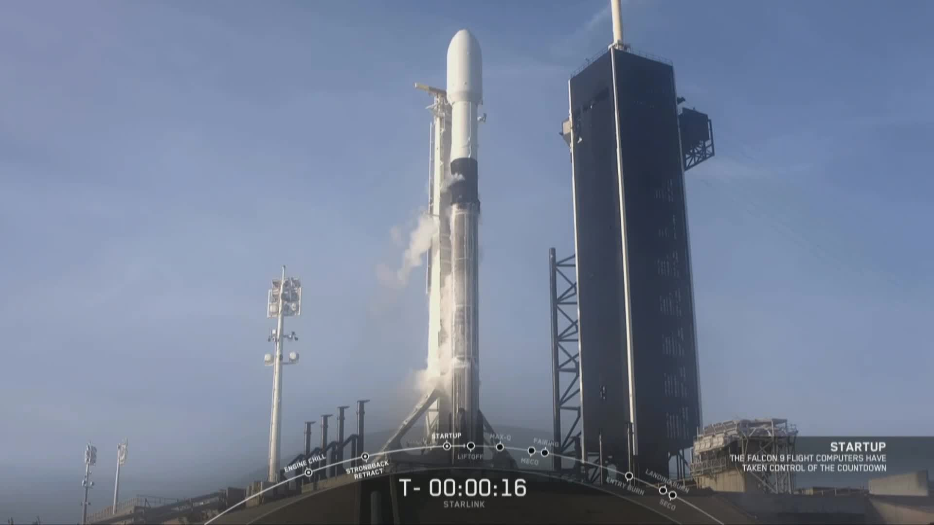 SpaceX再发星链卫星 一级火箭回收失败
