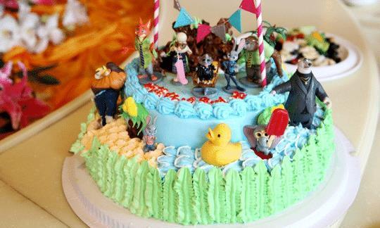 儿童生日蛋糕,很好吃,也是很多母亲想学的一个点心