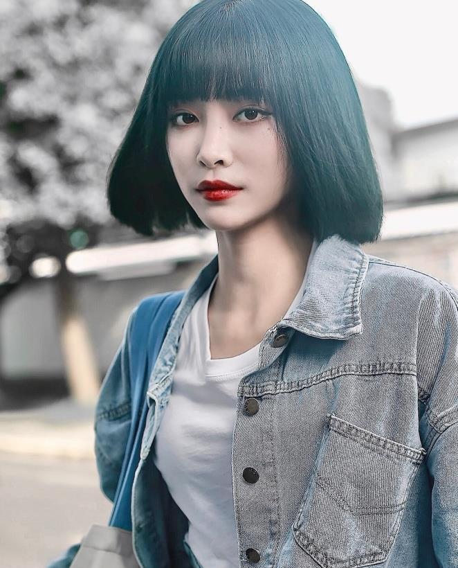"""THE9三美齐刘海造型,两人""""天仙"""",唯独她可可爱爱"""
