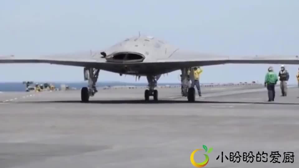 美军新型X-47B无人战斗航行器航母起飞电磁弹射真香