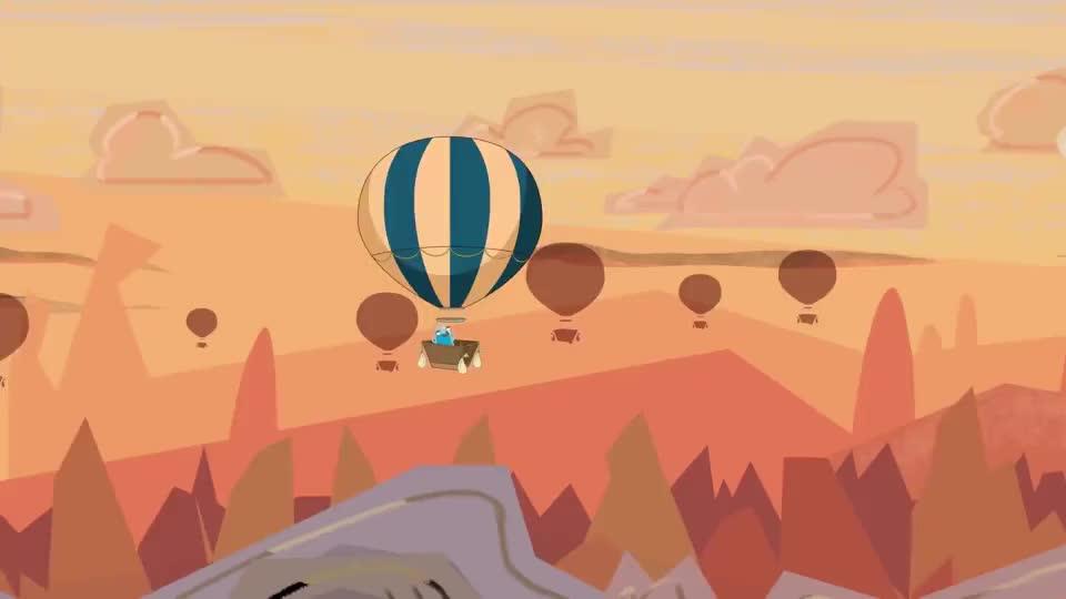 黑色幽默动画:坐热气球就别搭便车了,这么调皮你妈知道吗