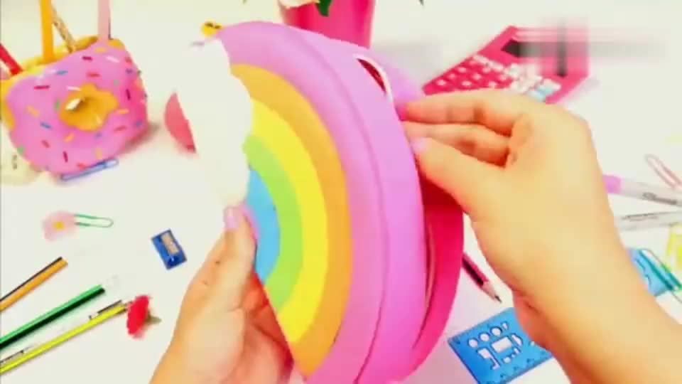 重回学校,DIY美味的甜甜圈笔筒,如此个性的学习用品喜欢吗?