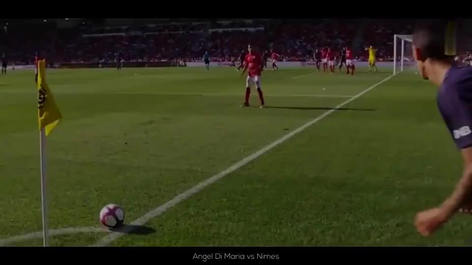 超级弧线球,角球也能直接破门,球场上的角球进球