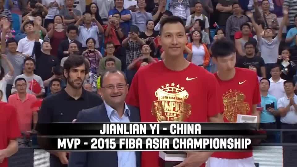 易建联2015亚锦赛高光合集,姚明之后,中国男篮的顶梁柱