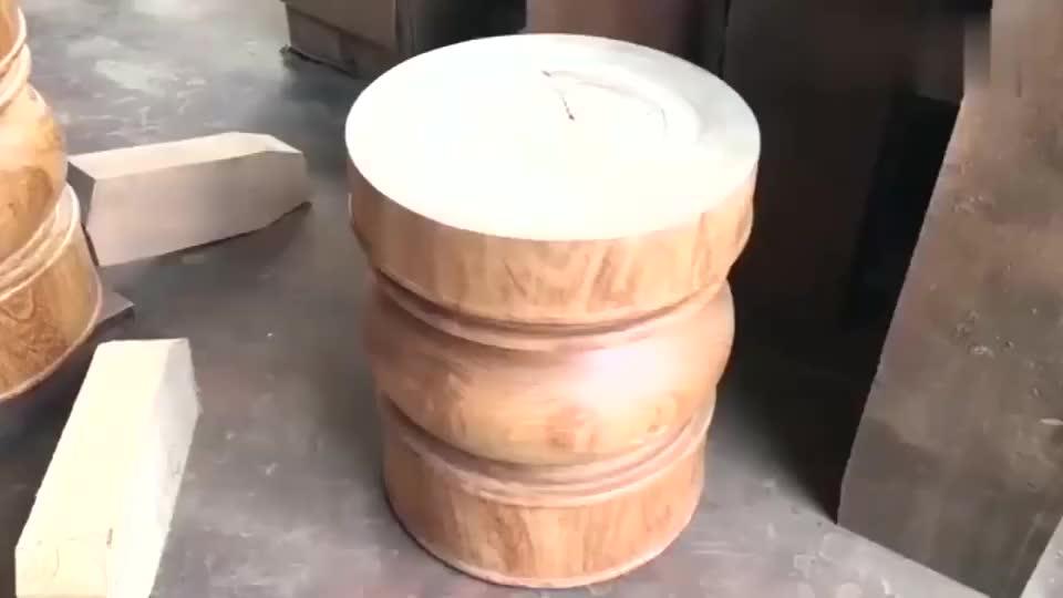 高级木工制作的大圆桌,没有使用一颗钉子,成品2000块都买不到!