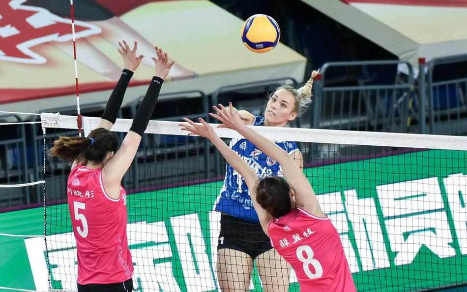 双外援合砍39分,中国女排超级联赛第15轮,上海3-1北京