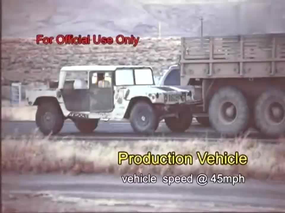 军用悍马防护性测试
