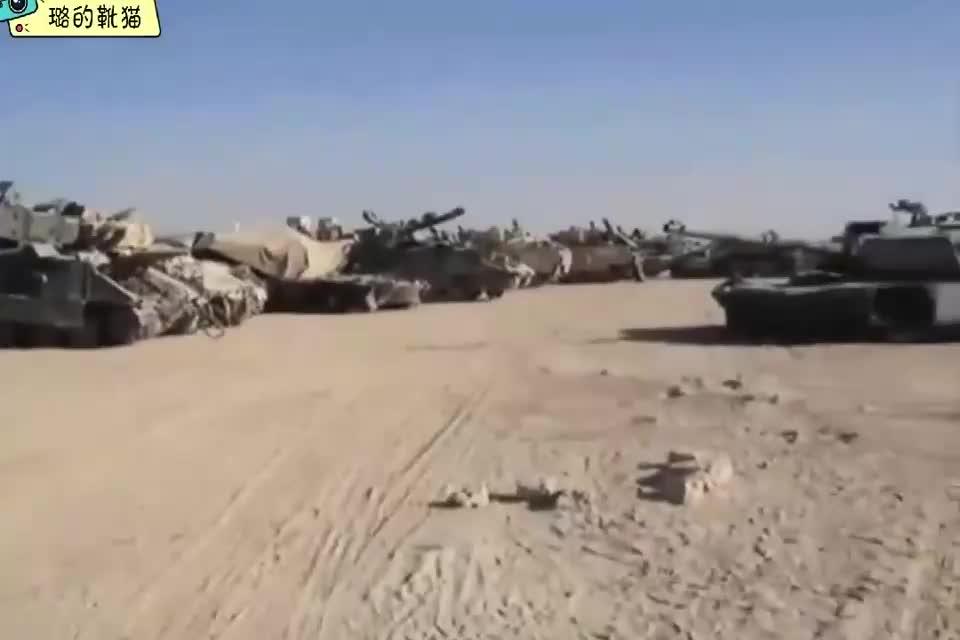 """伊拉克坦克坟场美军丢弃在异乡的""""艾布拉姆斯""""与""""布雷德利"""""""