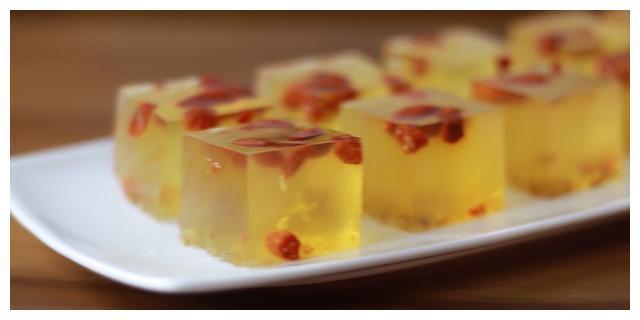 枸杞桂花糕,4样简单的食材做出高大上的美食,制作简单又软嫩