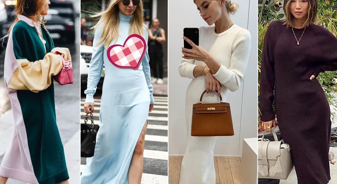 """百褶裙""""失宠""""了,今年最流行的是针织裙,气质女生都在穿"""