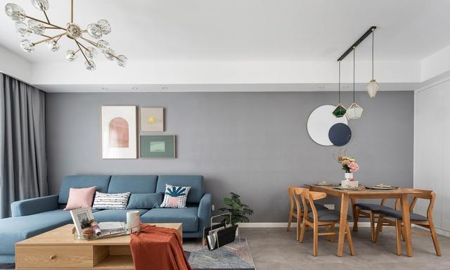 90平北欧风白木色灰三色,创造出时尚空间的小资气息