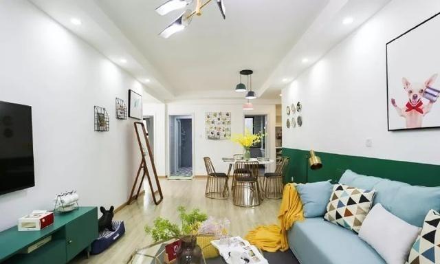 110㎡北欧轻奢装修,轻松优雅的家居设计