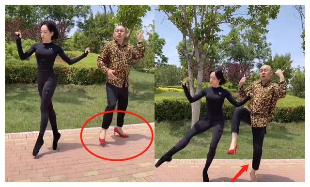 程野穿高跟鞋热舞,频繁换美女搭档,真实媳妇曝光遭嘲嫦娥配八戒
