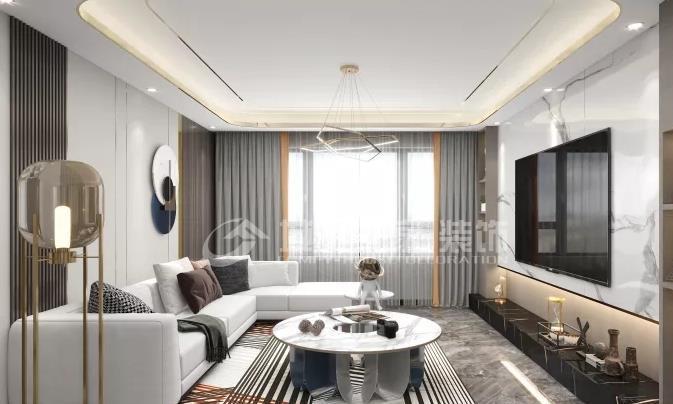 惊艳现代风,宅家也自在,109平米的三居室让人每天都元气满满