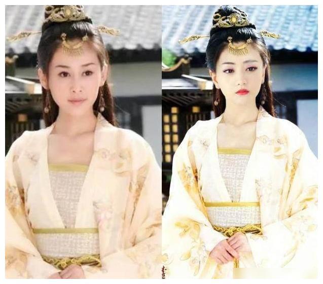 古装美女造型撞衫,李沁因妆容输给杨颖,佟丽娅居然完胜鞠婧祎
