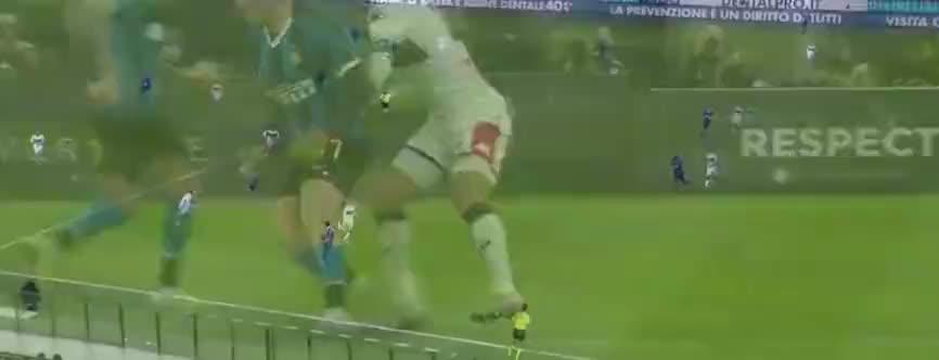 坎德雷瓦外脚背送助攻,卢卡库抽射破门
