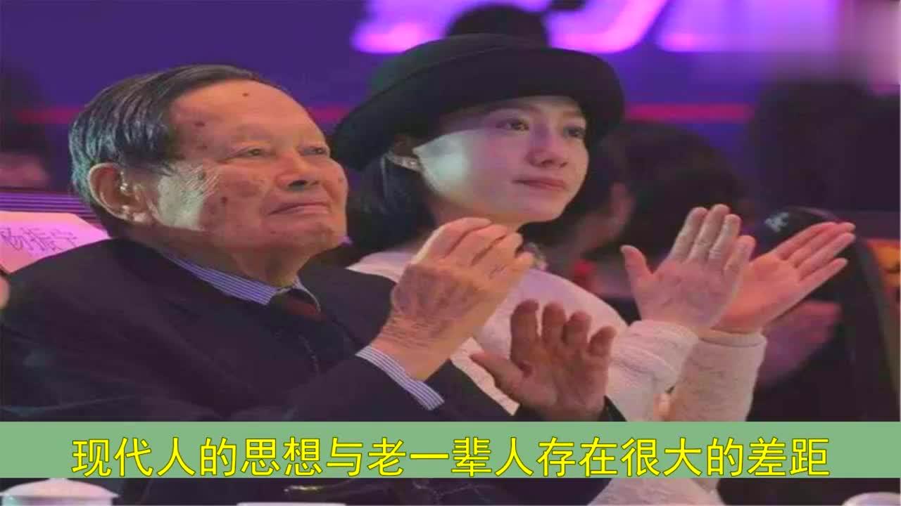 夫妻相差54岁,16年未生一子也不试管,98岁杨振宁的解释令人称赞