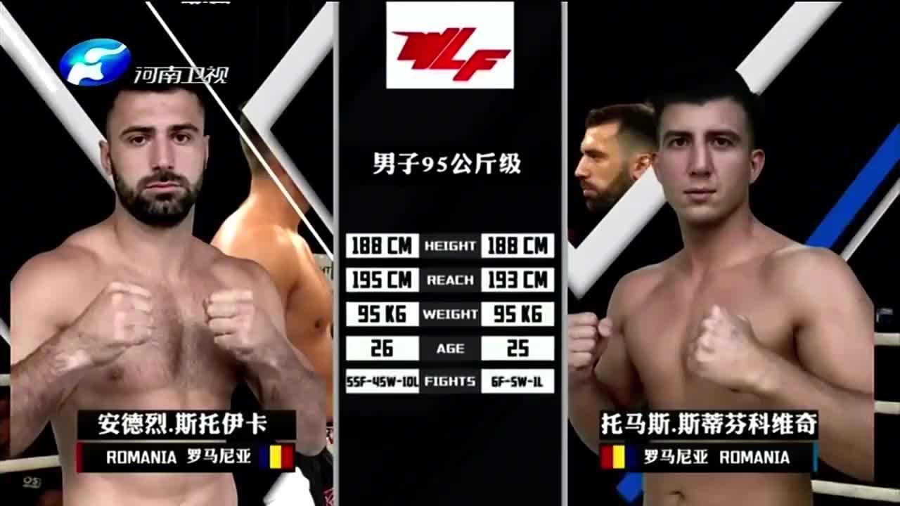 男子95公斤级大战,斯托伊卡对战斯蒂芬科维奇,拳拳到肉