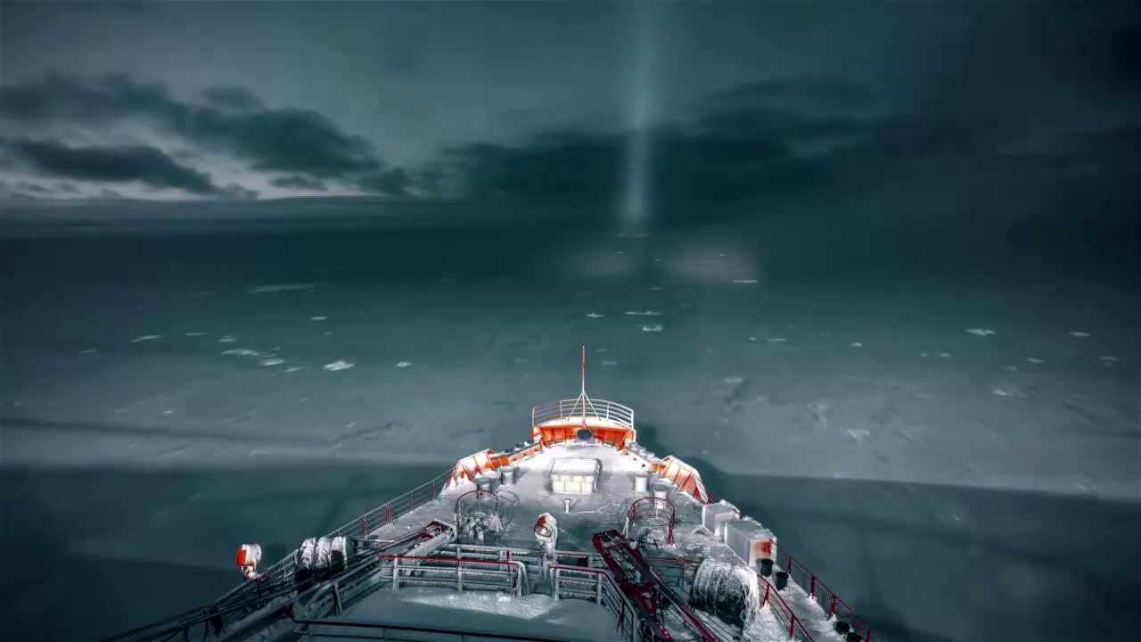 2K_75000HP原子核动力破冰船亚马尔