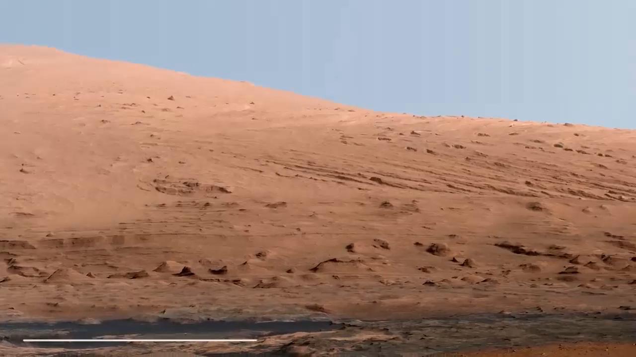 来快速欣赏下好奇号拍到的火星表面
