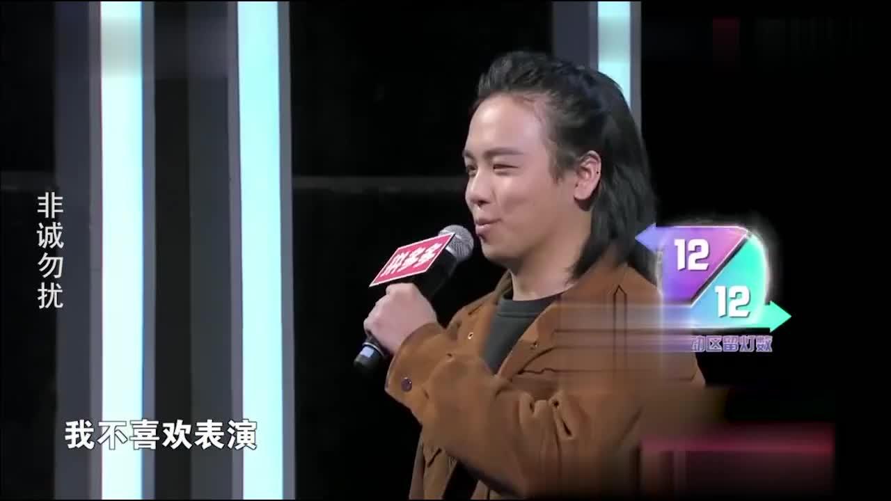 文艺型男上非诚相亲,与女嘉宾即兴表演,引台上爆笑不断!