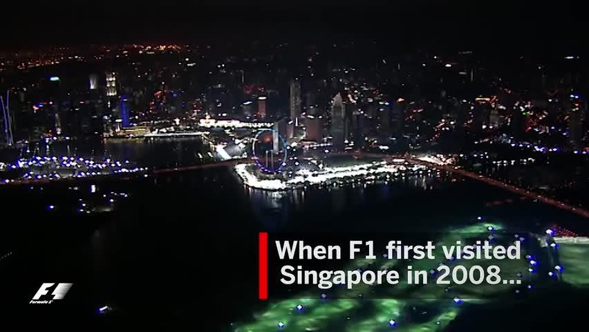 还记得当年新加坡大奖赛臭名昭著的这个弯角吗?
