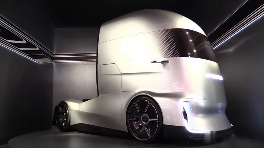 福特概念卡车F-Vision,L4级自动驾驶,外观真的太科技了