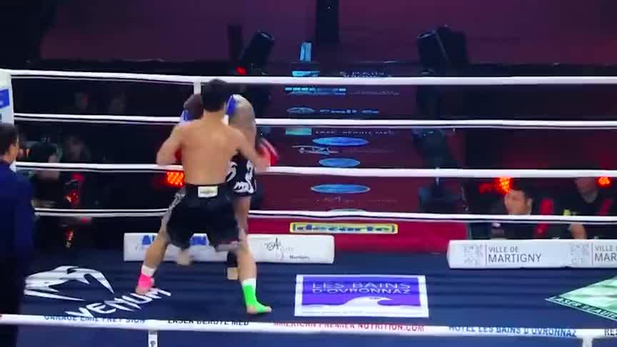 中国坦克邱建良有多强?一回合强势KO泰国拳王,不败神话被终结