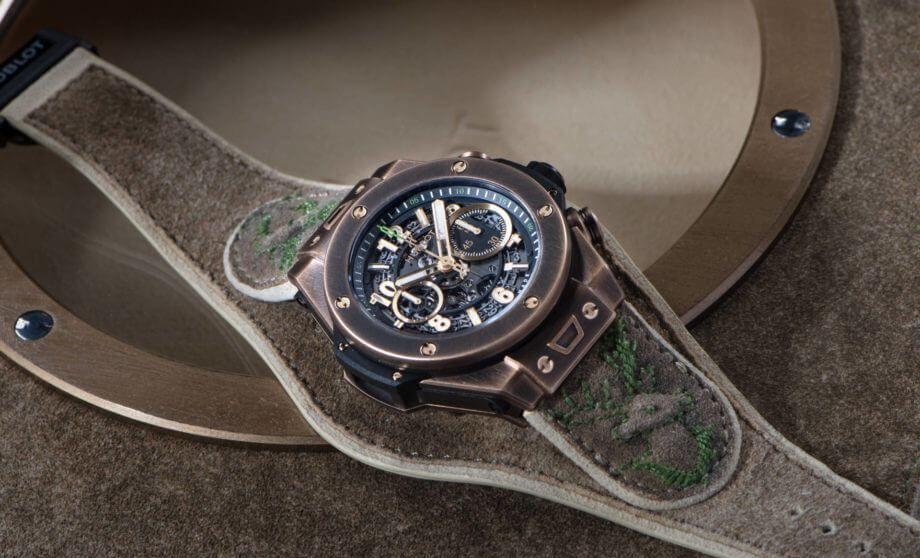 鹿皮手工定制 宇舶 Big Bang Bavaria 巴伐利亚青铜腕表