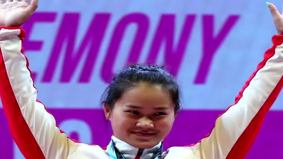 豪夺三冠!邓薇举重世锦赛64公斤折桂 打破三项世界纪录