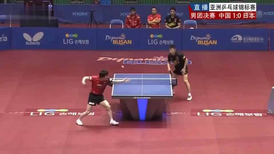 再好的手感也没用!松平健太遇到马龙被实力碾压 乒乓球
