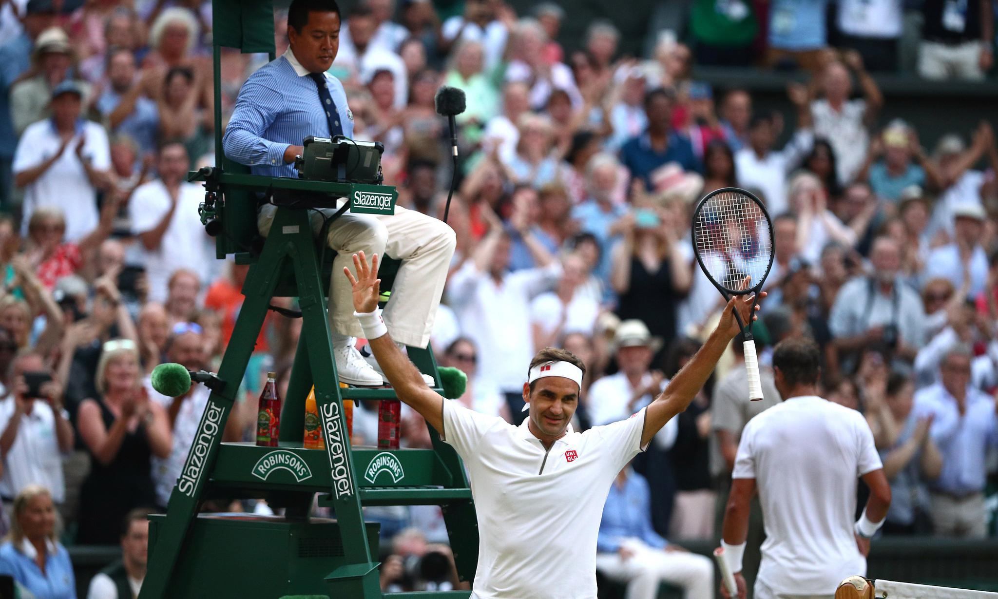 网球——温网:费德勒晋级决赛(2)