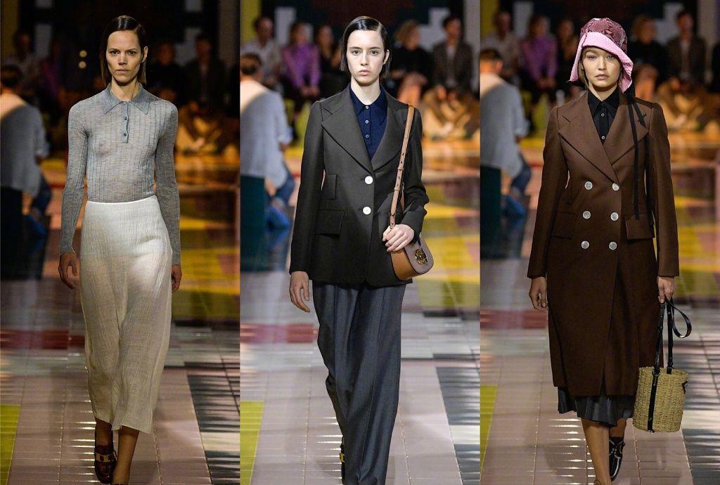 Prada普拉达2020春夏女装大秀,几何艺术印花,贝壳饰品,亮片装