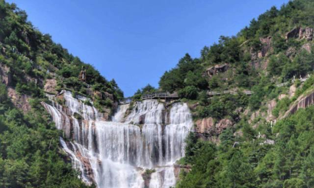 中华第一高瀑,浙江天台山大瀑布景区,一幅立体山水画卷图!