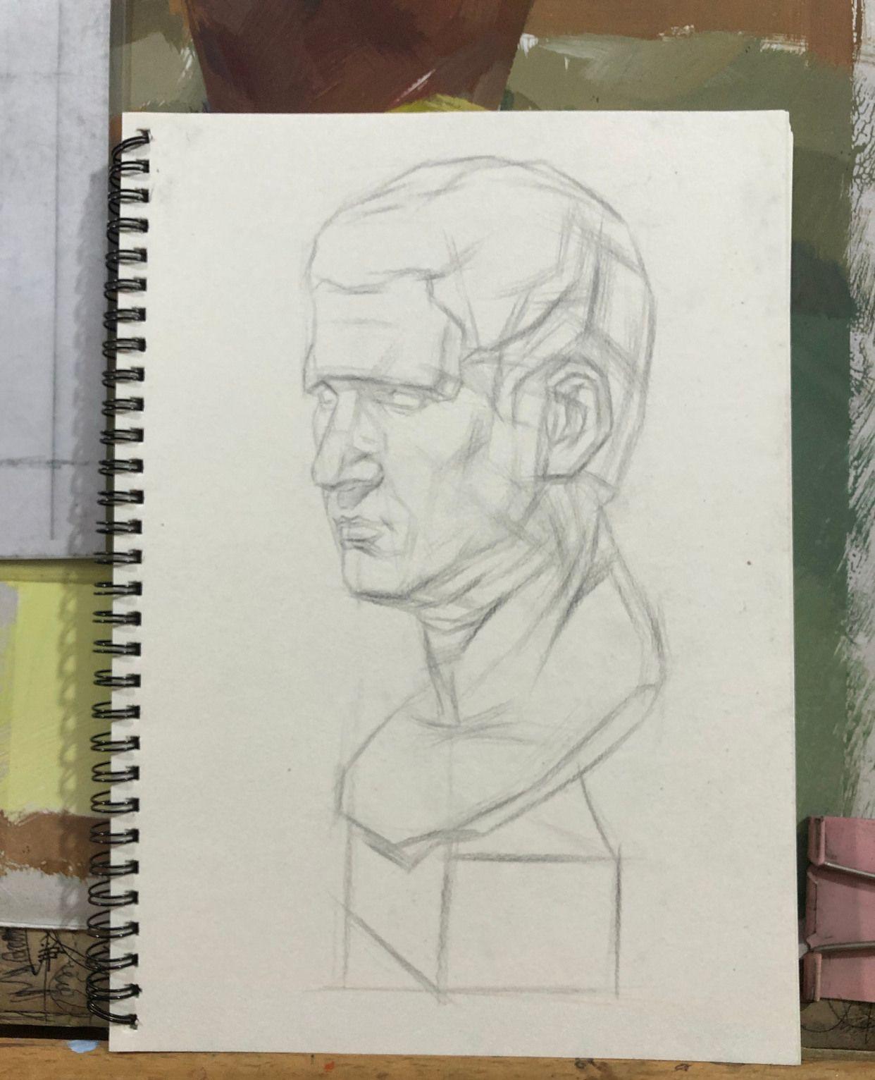 素描石膏像,结构步骤
