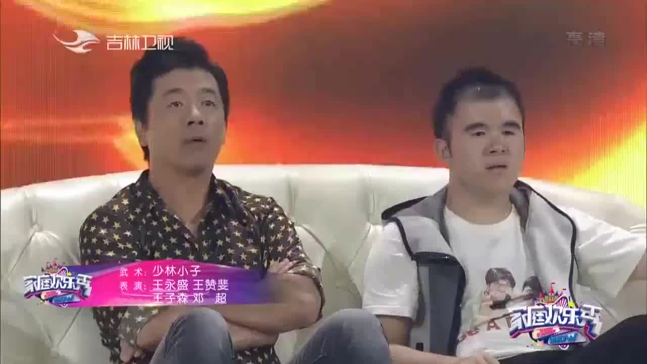 孙耀威应邀上台表演武术三岁萌娃竟然成为强敌