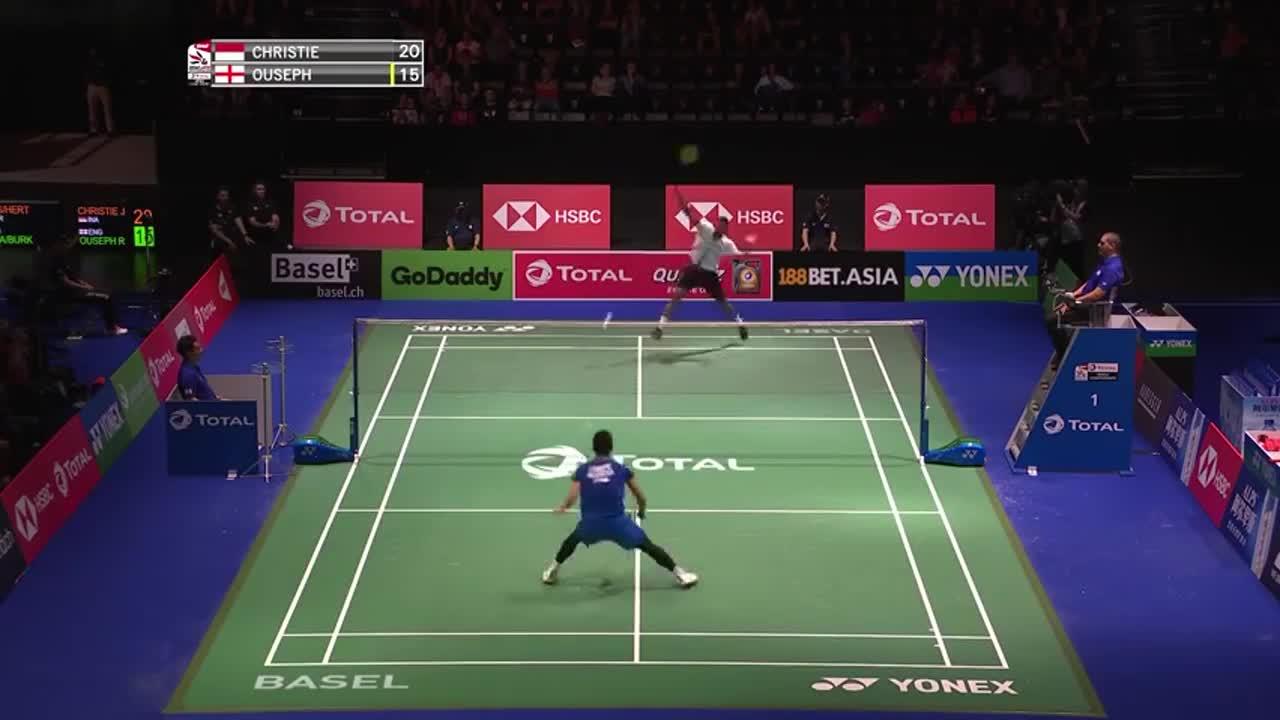 羽毛球:乔纳坦对欧塞夫,稳中求胜