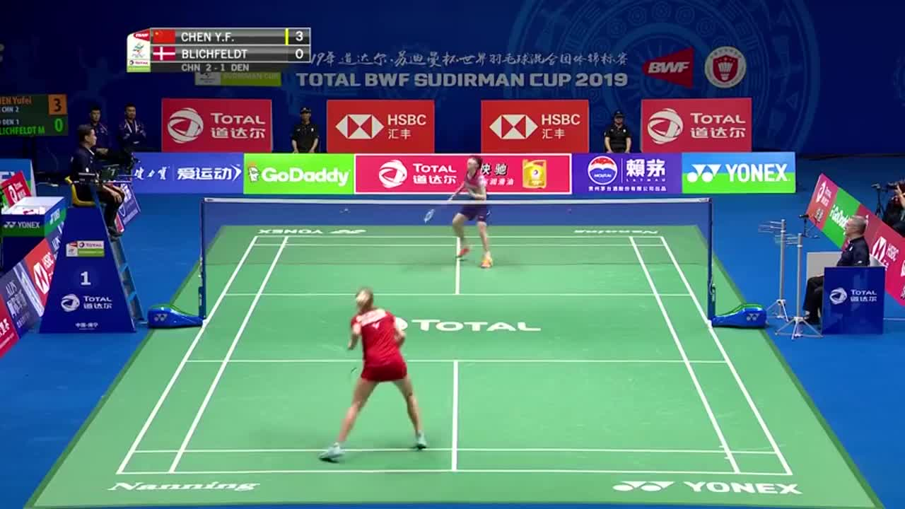 羽毛球:陈雨菲对战米娅全程无压力,赛后米娅满脸通红