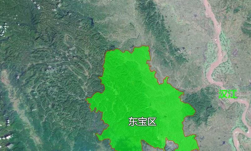 7张地形图,快速了解湖北省荆门市辖区县市