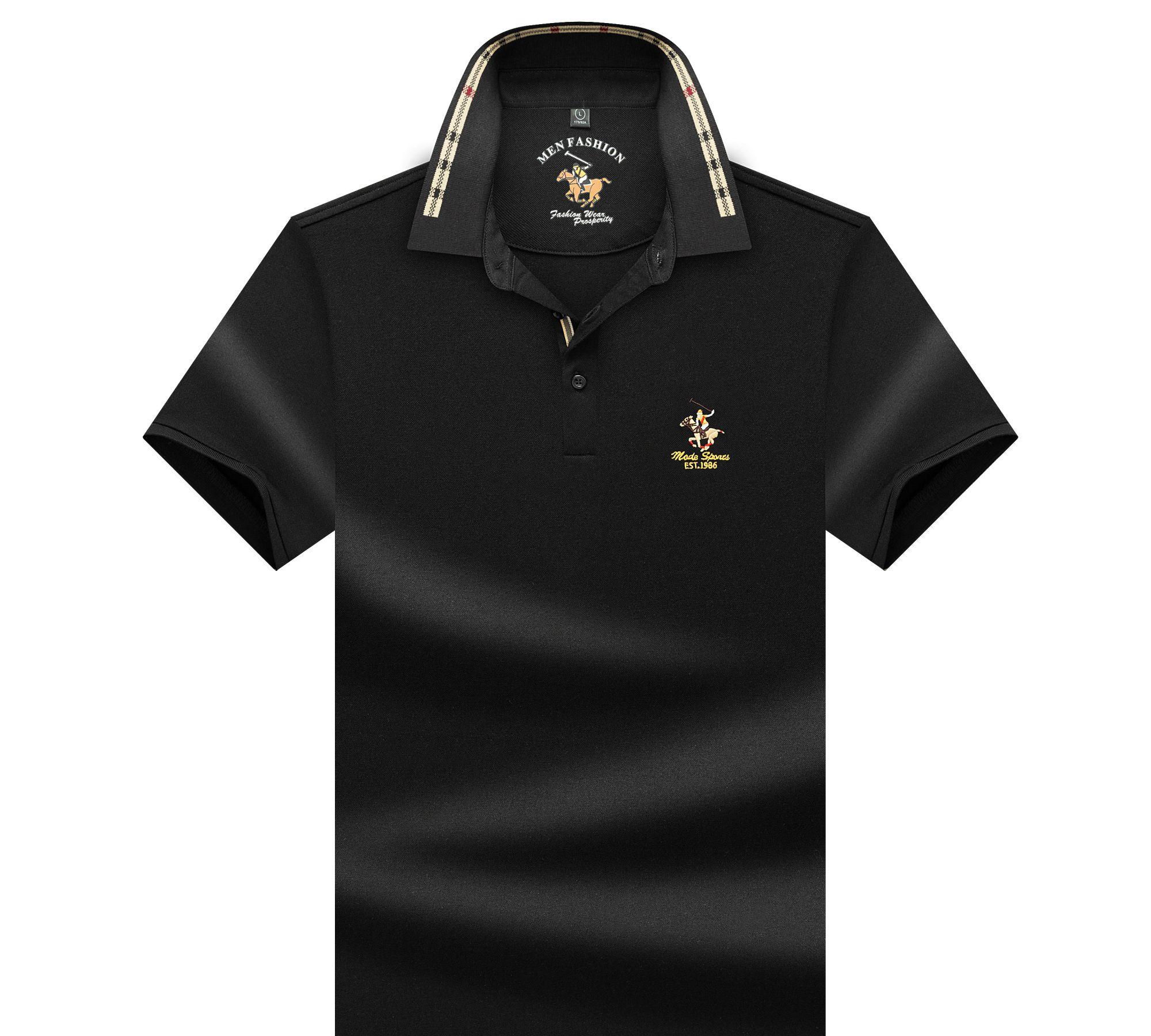 夏季男士短袖T恤,商务休闲polo衫,纯色简约薄款,百搭翻领t恤