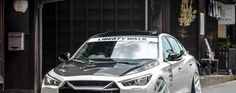 日系轿跑增添暴力美感,英菲尼迪Q50专属车身套件