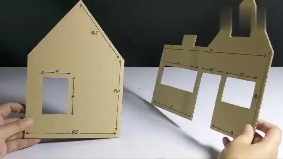 用废弃纸箱做迷你小屋,加上细节就可以卖钱了