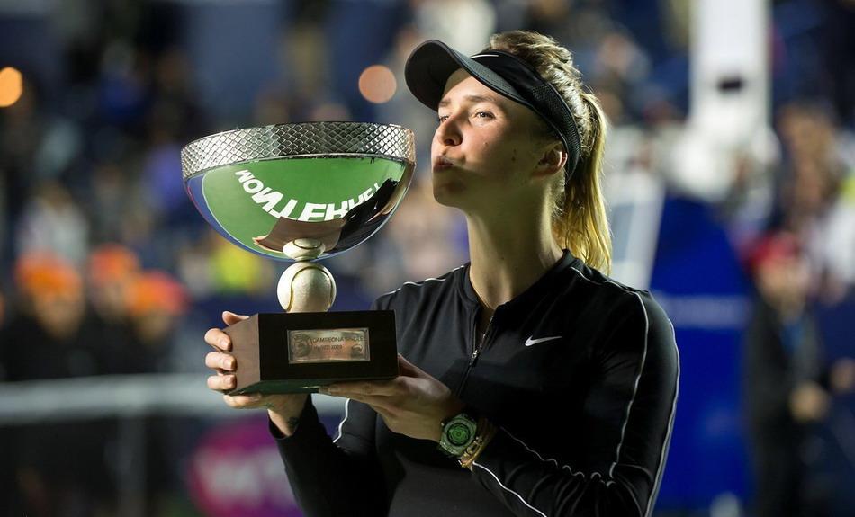 2020年WTA蒙特雷公开赛女单决赛,斯维托丽娜2比1波兹科娃夺冠