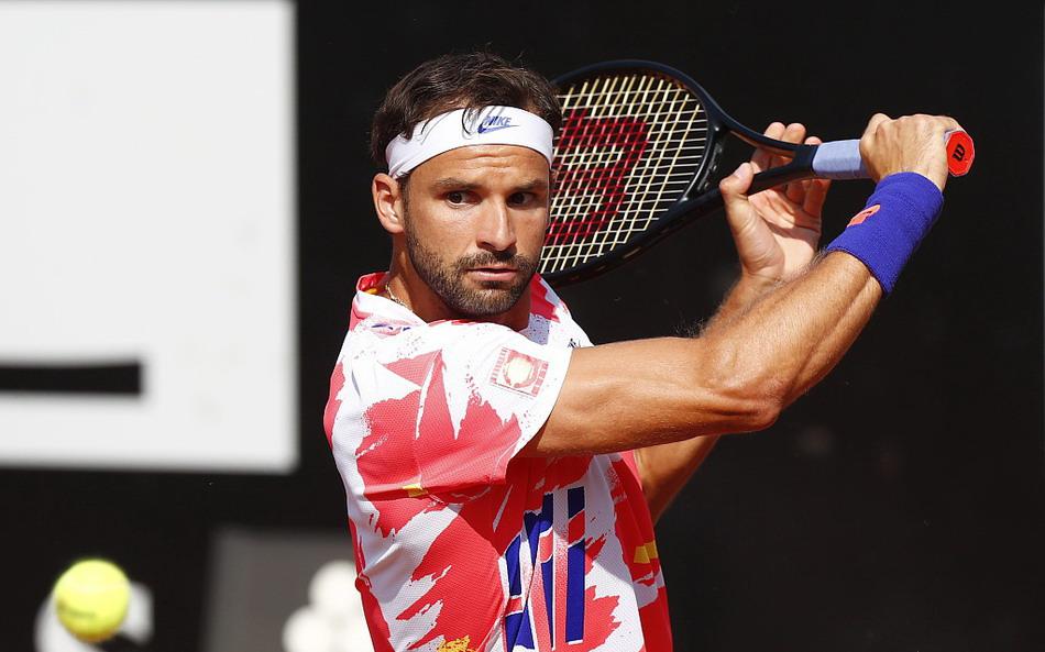 2020年意大利罗马网球公开赛男单第3轮,迪米特洛夫2-1淘汰辛纳