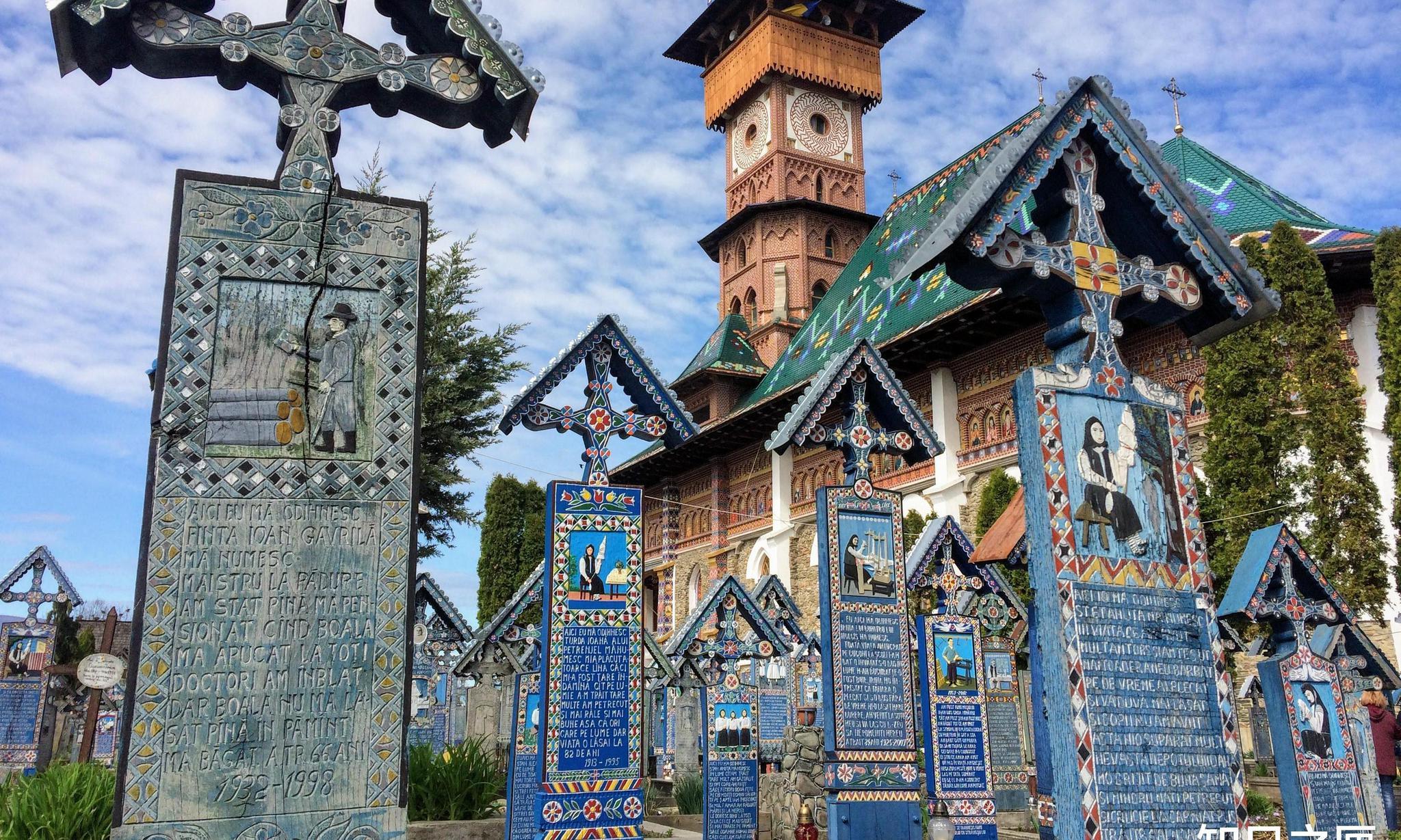 """世界上最""""阳气""""的墓地!罗马尼亚既热闹又漂亮的""""热闹墓地""""!"""