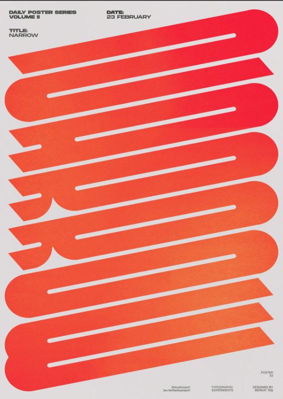 土耳其设计师 Berkay Taş 创意文字海报设计.