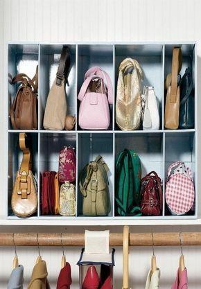 收纳小贴士本来是被包包的收纳吸引了虽然本人么有那么那么多包包