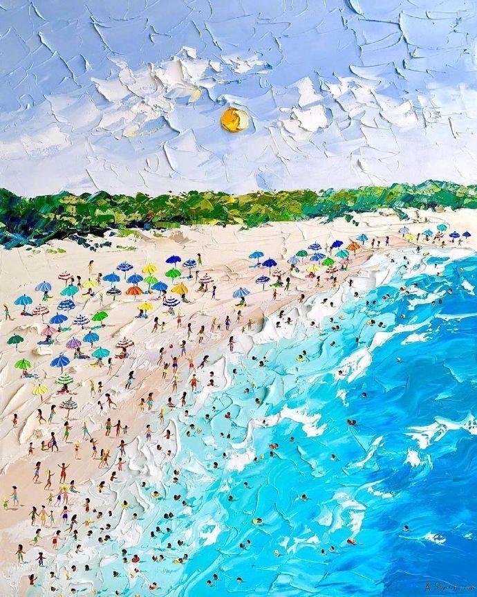 怀念夏天.充满奶油味的画作Alena Shymchonak