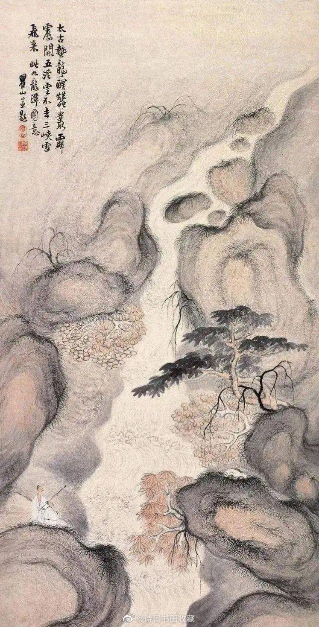 被称为黄山画派三巨子的梅清、石涛、弘仁